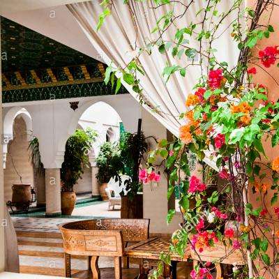 Interior View At Riad Ksar Anika In Marrakesh Morocco North Africa E2han3 12